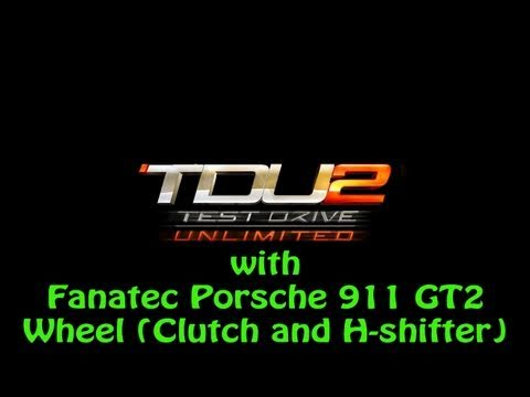 test drive unlimited 2 ps3 with fanatec porsche 911 gt2 wheel clutch and h s. Black Bedroom Furniture Sets. Home Design Ideas