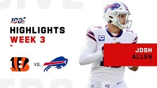 Josh Allen Highlights vs. Bengals | NFL 2019