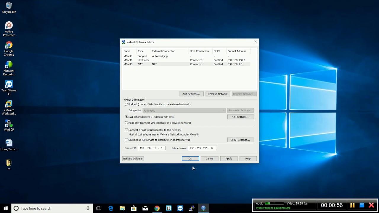 Vmware workstation NAT IP Configuration
