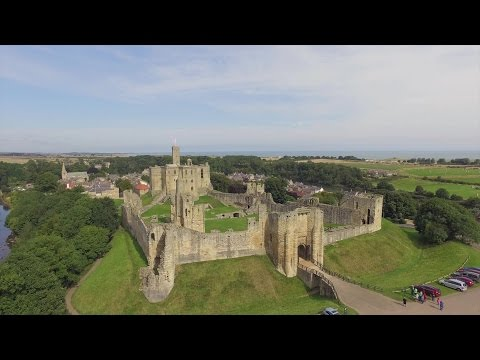 Inspire 1 Drone Warkworth Castle, Northumberland and Newbiggin-by-the-Sea