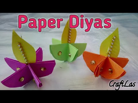 Paper Fold Diya Diwali Wall Hanging Making Idea | How To | CraftLas