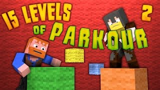 Minecraft ★ 15 LEVELS OF PARKOUR (2) - Dumb & Dumber
