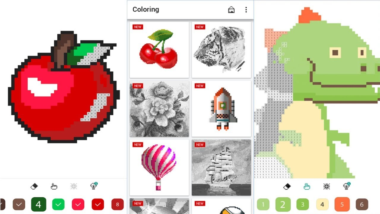 Color By Number Pixel Coloring Book Android Gameplay Youtube