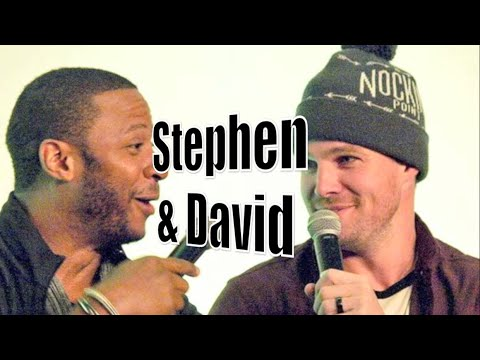 Stephen Amell & David Ramsey  The Bromance Humor