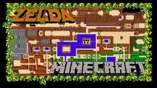 Minecraft - Zelda Minecraft: Legend of Minecraft = The Legend of Zelda (NES) World Map Recreated in Minecraft! - User video