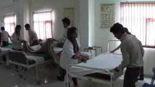Rama Nursing College Bed Making In Nursing Class