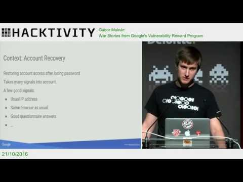 Gábor Molnár – War Stories from Google's Vulnerability Reward Program