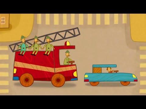Car Toons: a Fire Truck. Kids' Cartoons