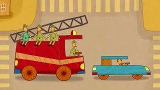 Car Toons: a Fire Truck. Kids' Cartoons