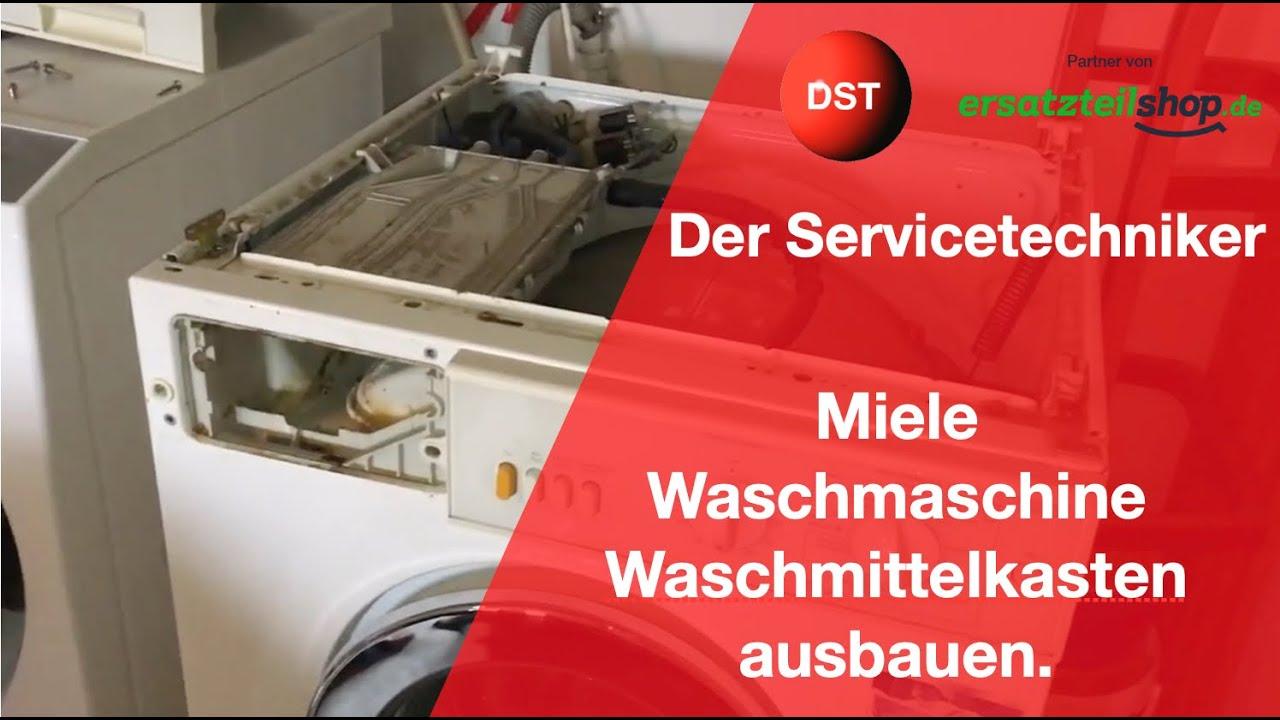 miele waschmaschine ausbau des waschmittelkastens ltere modelle youtube. Black Bedroom Furniture Sets. Home Design Ideas