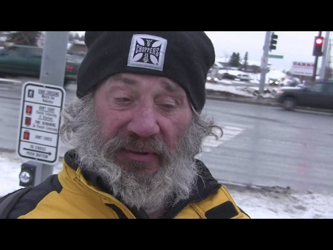 Homeless Man Lives on the Streets of Anchorage, Alaska