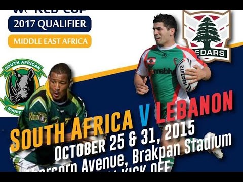 Lebanon Cedars vs South Africa Rhinos (1st Half) - Rugby League World Cup Qualifiers
