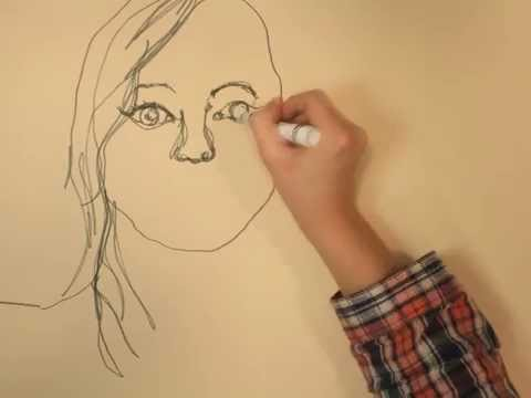 Continuous Line Drawing Face : Continuous line portrait youtube