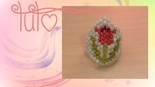 "[TUTO] Bague ""fleur de printemps"" en perles"