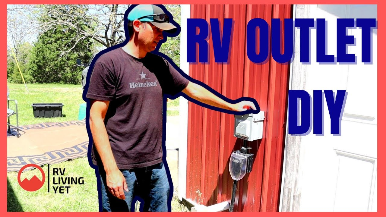 Install an RV Power Outlet / Install RV Outlet At Home / 20 or 20 Amp RV  Outlet DIY / How To