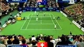 Federer & Mirka vs Hewitt & Molik - part 1