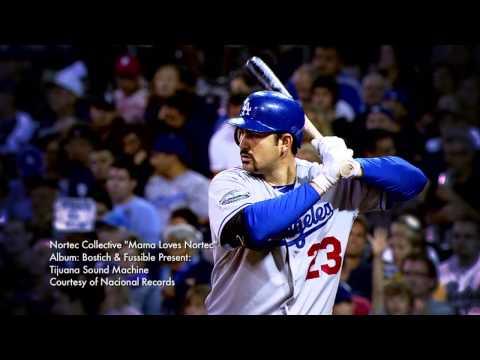 Adrian Gonzalez LA Dodgers Intro Nortec Collective  Mama Loves Nortec