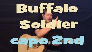 Buffalo Soldier (Bob Marley) Easy Strum Guitar Lesson Chord Reggae Pattern How to Play Tutorial