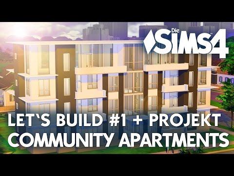 Die Sims 4 Community Apartments Bau-Projekt   Let's Build #1 + Mitmachen!