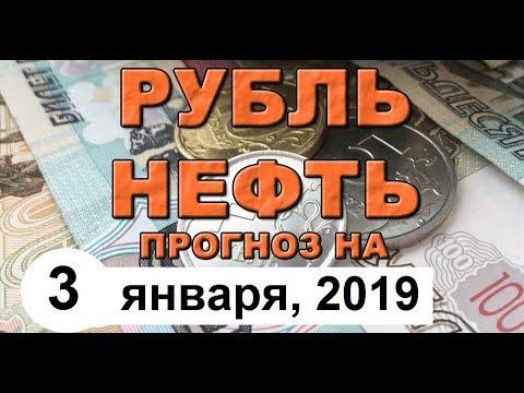 Курс доллара на сегодня, курс рубля на сегодня (обзор от 3 января 2019 года)