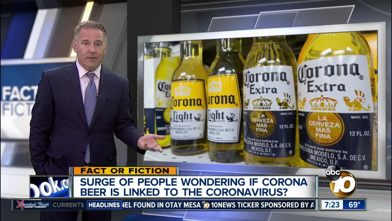 People believe coronavirus is linked to Corona beer? - YouTube