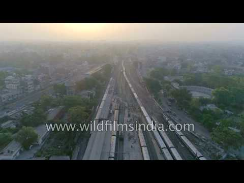 Punjab industry, highway infrastructure and railway lines: aerial view