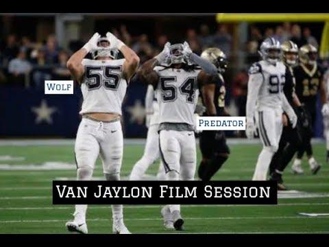 "Jaylon Smith & Leighton Vander Esch vs Saints || Dallas Cowboys Film Session ""Van Jaylon"""