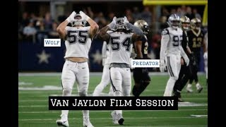 "Jaylon Smith & Leighton Vander Esch vs Saints || Dallas Cowboys Film Session ""Van Jaylon"""