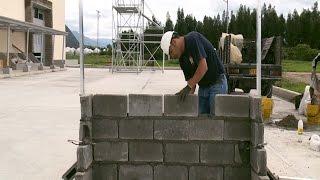 Cómo construir un muro en bloque (Montaje - parte II)