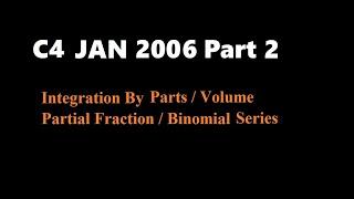 C4 2006 Jan (Part2 Q4,5)