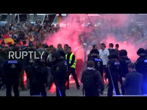 LIVE: Anti-migrant protest condemning fatal strife in Chemnitz met by counter-protest - Part 2
