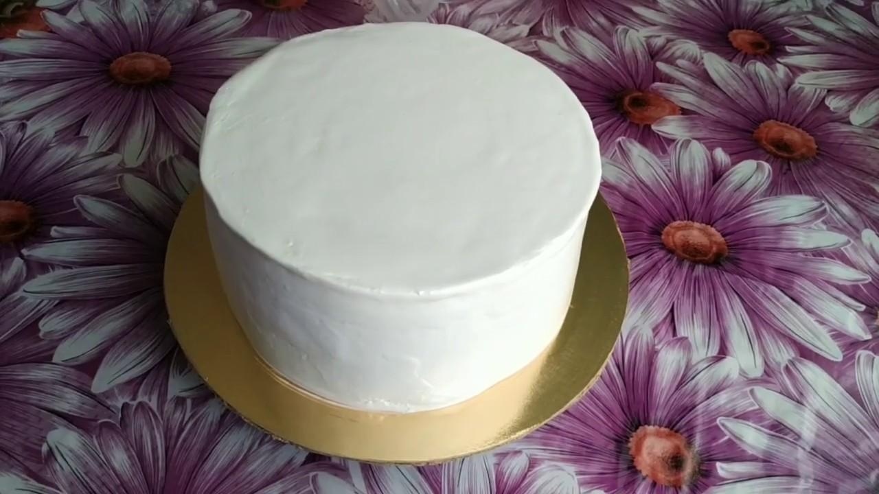 Украшение торта БЗКкремом.Cake Decoration Protein Custard