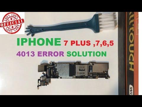 iphone 7 4013 error solution fix - YouTube