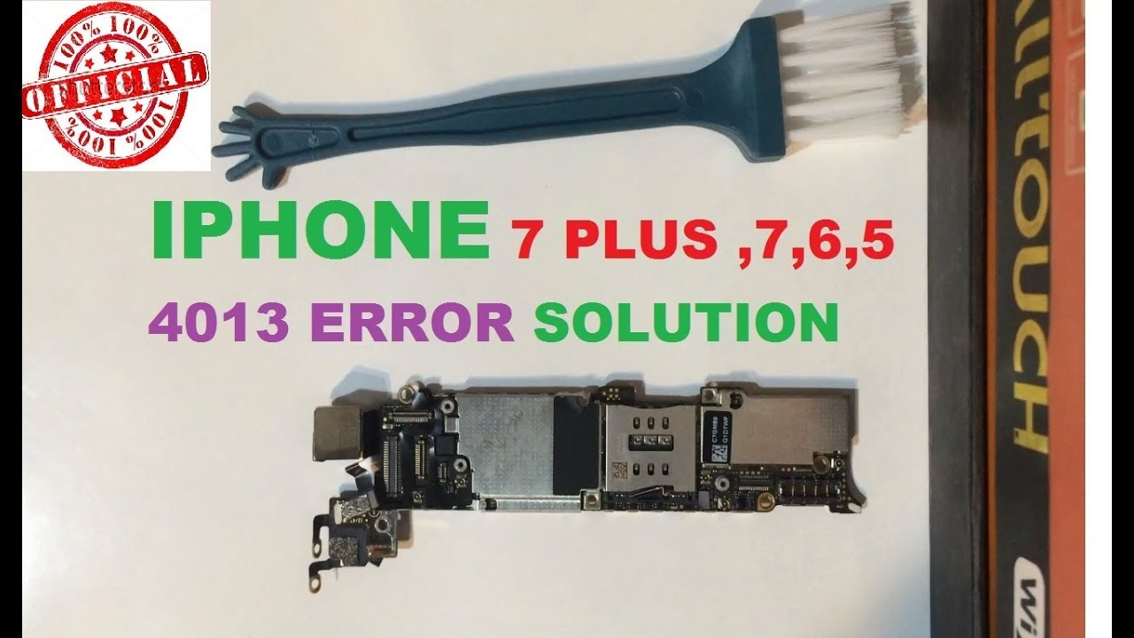 iphone 7 4013 error solution fix