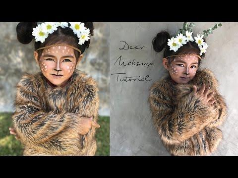 Baby Deer Halloween Makeup Tutorial