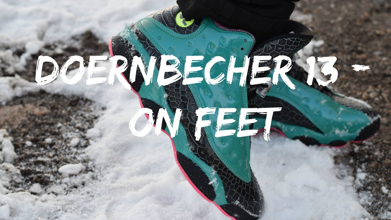 Air Jordan 13 Doernbecher - On Feet - YouTube