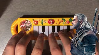 Toss A Coin To Your Witcher but it's played on a $1 Piano видео
