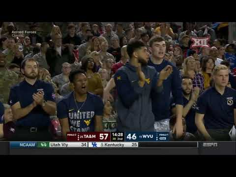 Texas A&M vs West Virginia Men's Basketball Highlights
