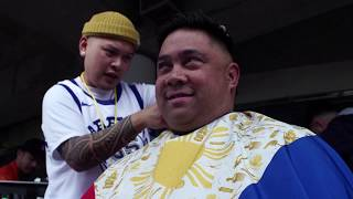 Fil-Am barber criticized for using Philippine flag at Warriors' heritage night event