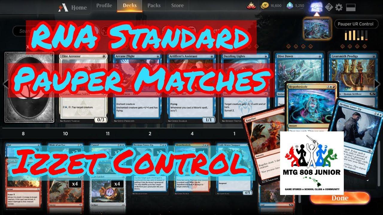 Standard Pauper Matches - RNA Izzet Control - MTG: Arena