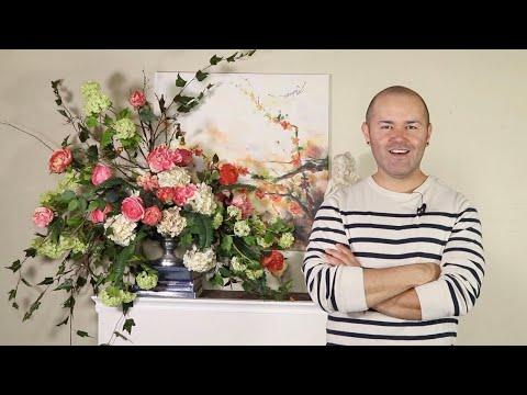 beautiful-silk-flower-arrangement-(silk-floral-bouquet-diy-)
