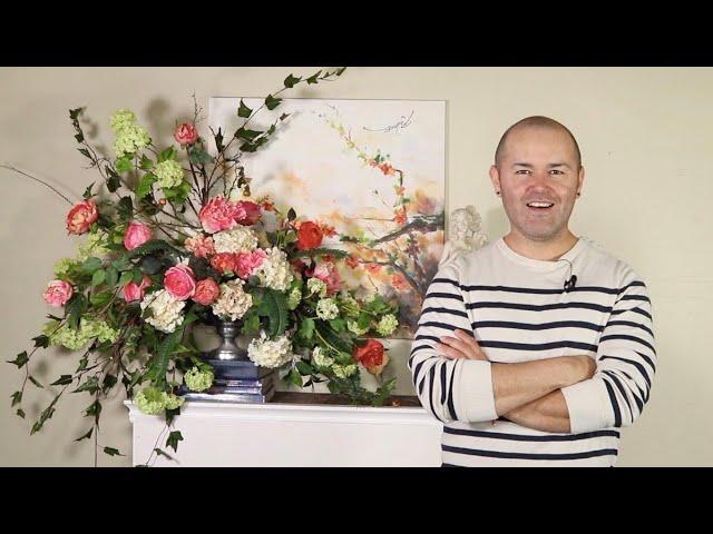 Beautiful Silk Flower Arrangement Silk Floral Bouquet Diy Youtube