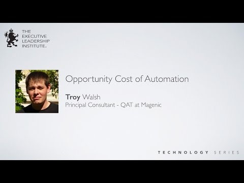 Opportunity Cost of Automation in Software Development