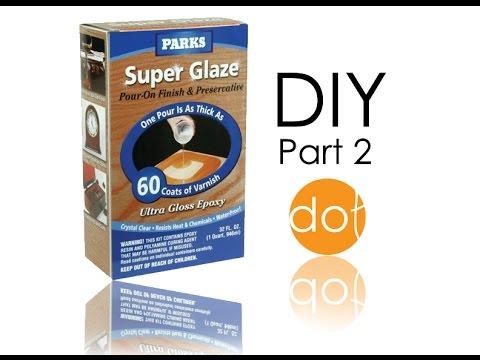 Rust-Oleum Parks Super Glaze, Ultra Glossy Epoxy finish application- diy part 2