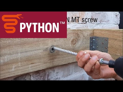 PYTHON MT - Masonry wall to timber connection with a washer.