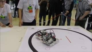 Робот-сумоист съехал с круга? или Засудили?(Кубок преподавателей робототехники на РобоФесте-2017)