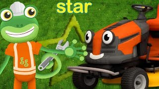 Learning Shapes With Maisie Mower - Gecko's Garage | Construction Vehicles | Learning For Kids