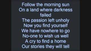 "Black Veil Brides ""Fallen Angels"" lyrics (on screen)"