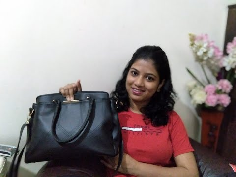 What's in my bag. , women Office bag necessity. sling bag review. thumbnail