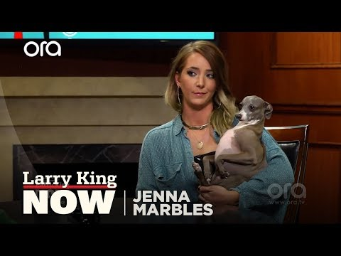 A Match Made In Heaven ? Larry Meets Jenna Marbles' Dog Kermit! | Larry King Now | Ora.TV